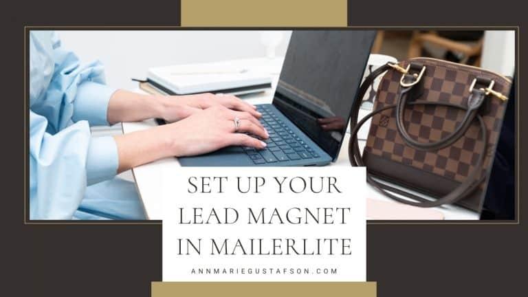 Set up Your Lead Magnet in MailerLite (MailerLite Lead Magnet Tutorial)