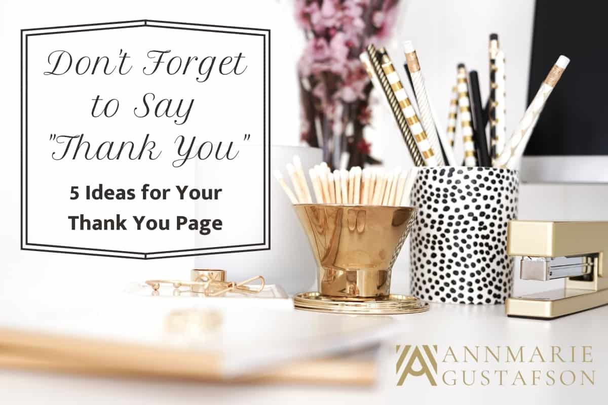 5 Approaches for Your Thank You Page